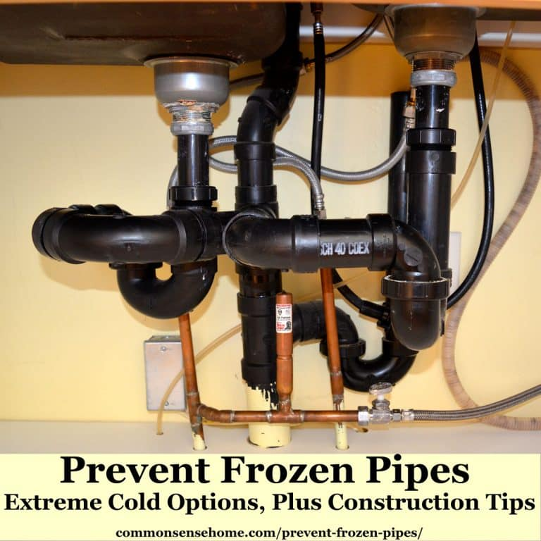 Prevent Frozen Pipes – Extreme Cold Options, Plus Construction Tips