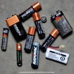 batteries ready for recycling