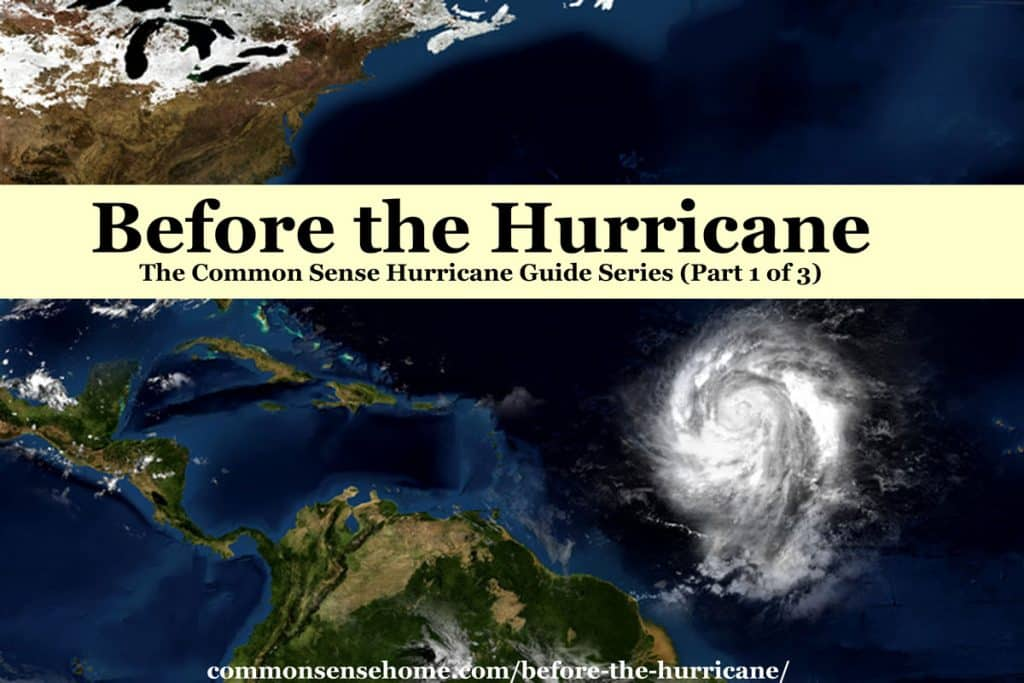 Hurricane approaching - before the hurricane
