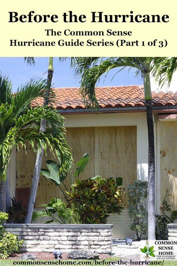 Preparing a home before the hurricane with wood over the windows
