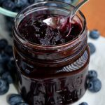 blueberry jam and blueberries