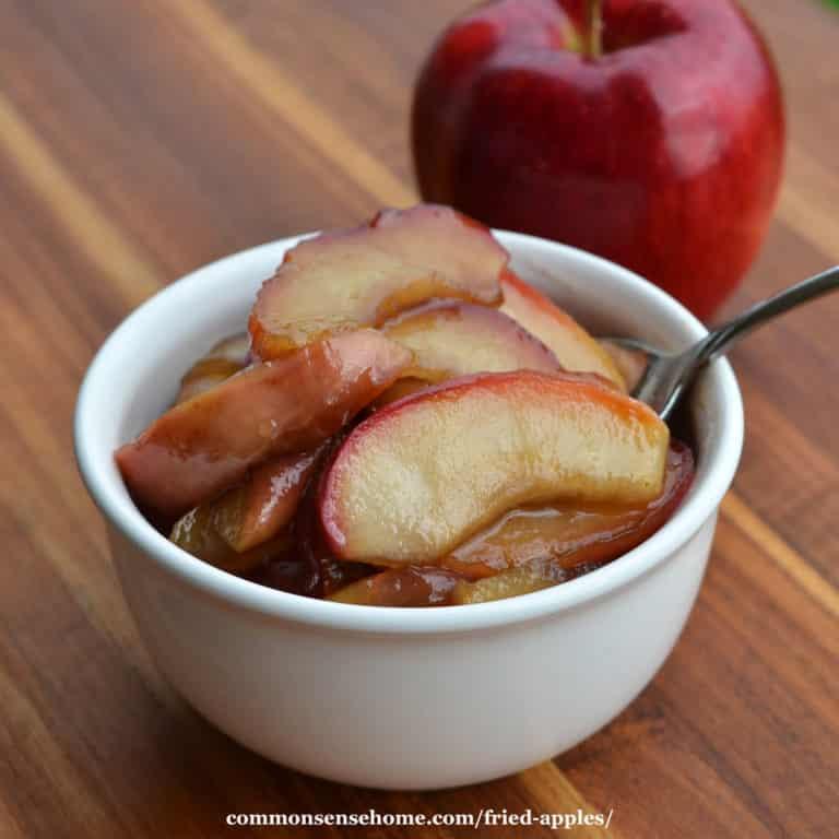 Fried Apples with Maple Cinnamon Glaze (No Refined Sugar)
