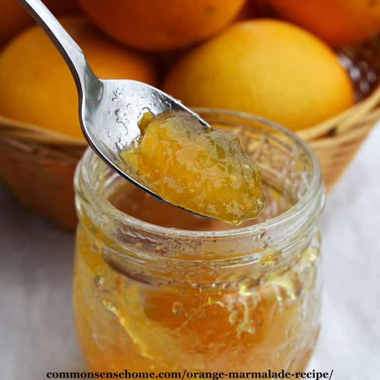 Orange Marmalade Recipe (Quick Cooking, Low Sugar)