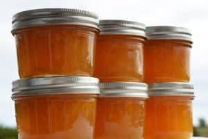 jars of orange marmalade