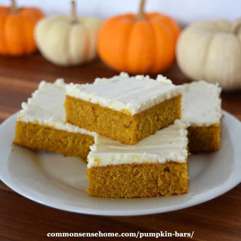 Mom's Best Pumpkin Bars with Cream Cheese Frosting