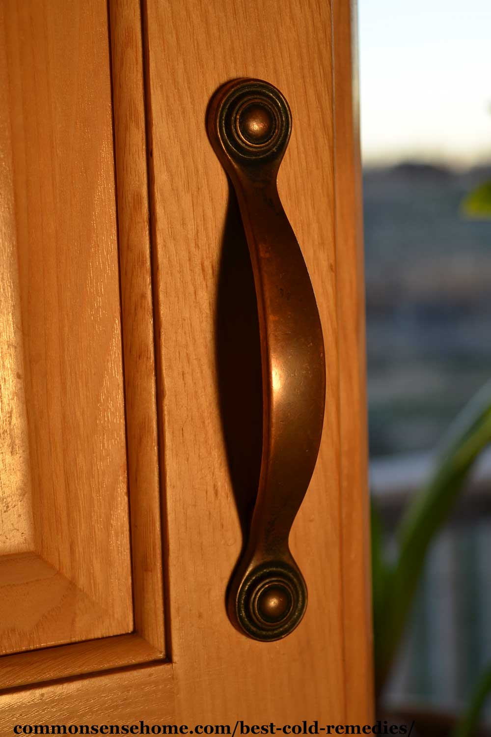 copper drawer pull