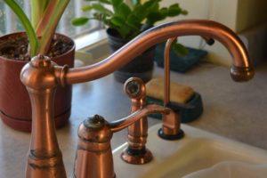 copper kitchen sink faucet