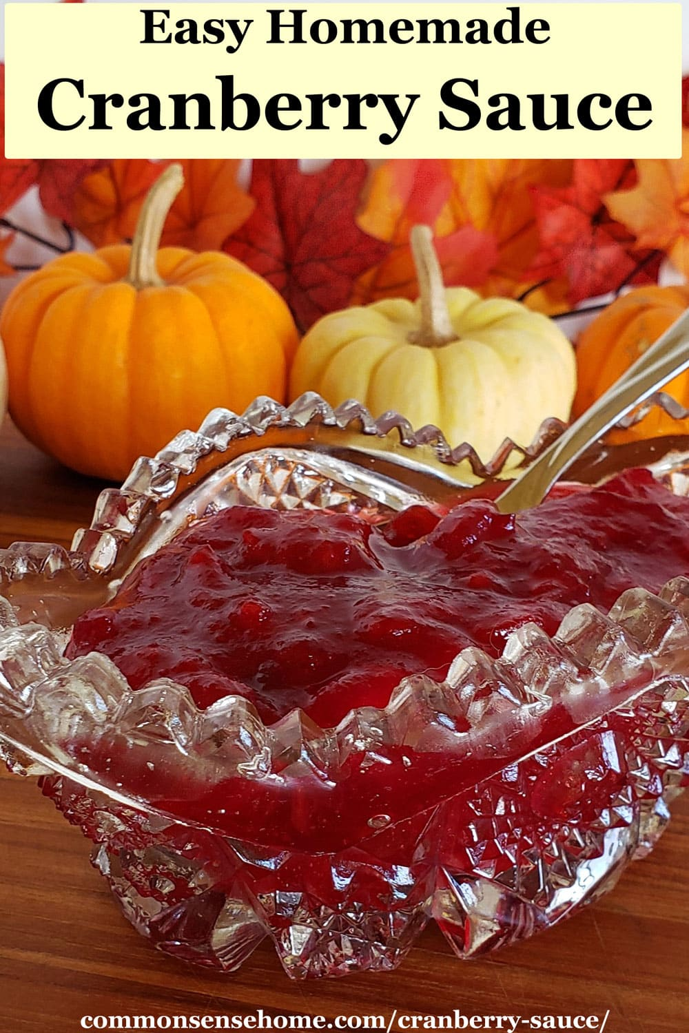 cranberry sauce for Thanksgiving