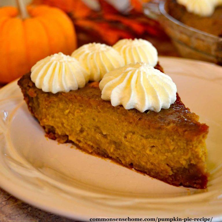 Pumpkin Pie Recipe with Graham Cracker Crust (Maple Sweetened)