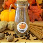 small jar of homemade pumpkin spice