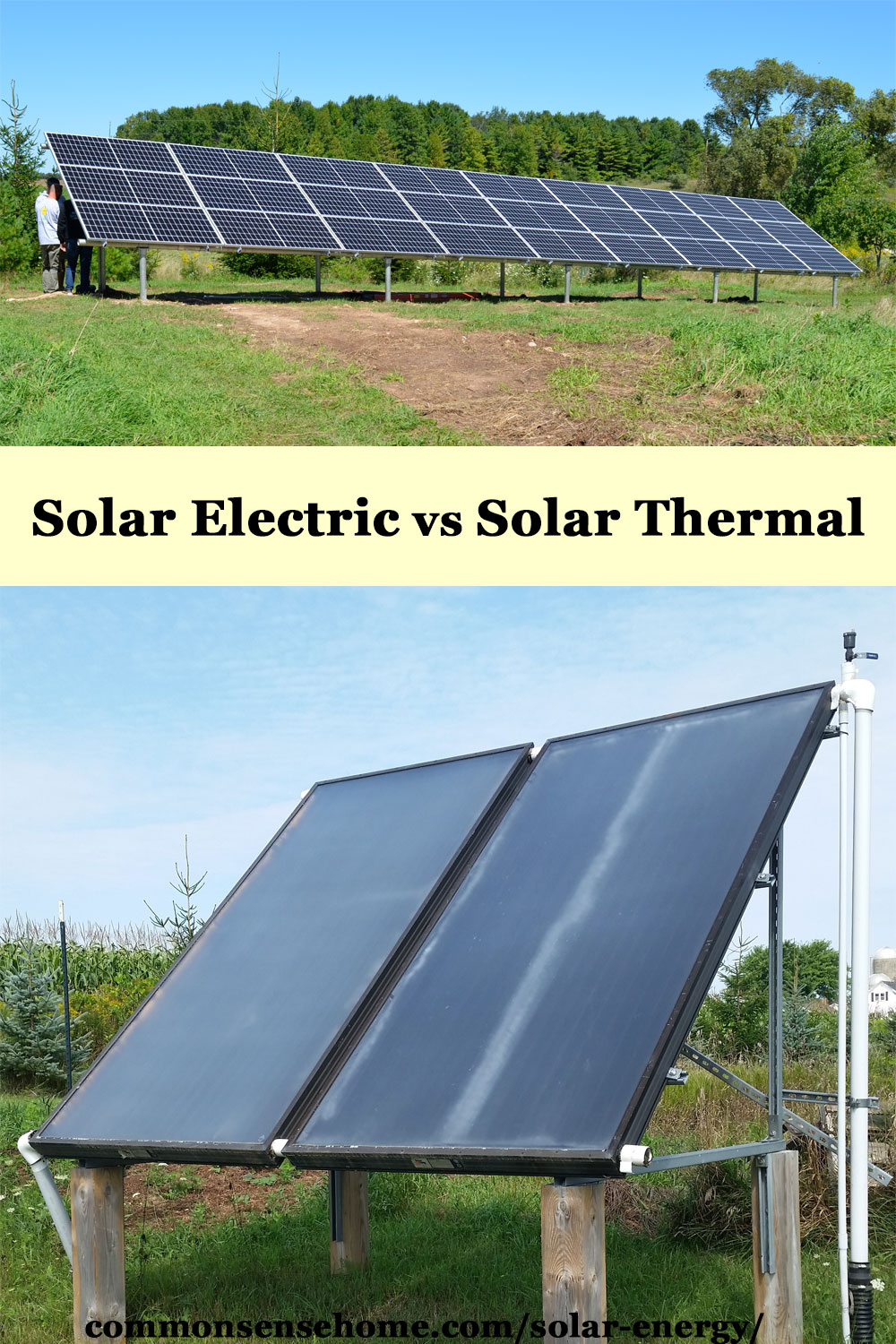 solar electric versus solar thermal