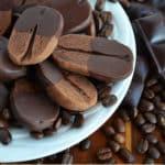 chocolate coffee bean cookies