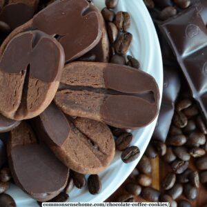 """chocolate coffee cookies - """"reindeer prints"""""""