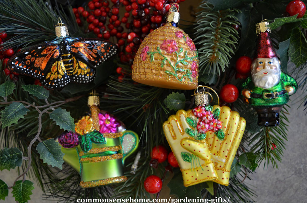 gardening Christmas tree ornaments