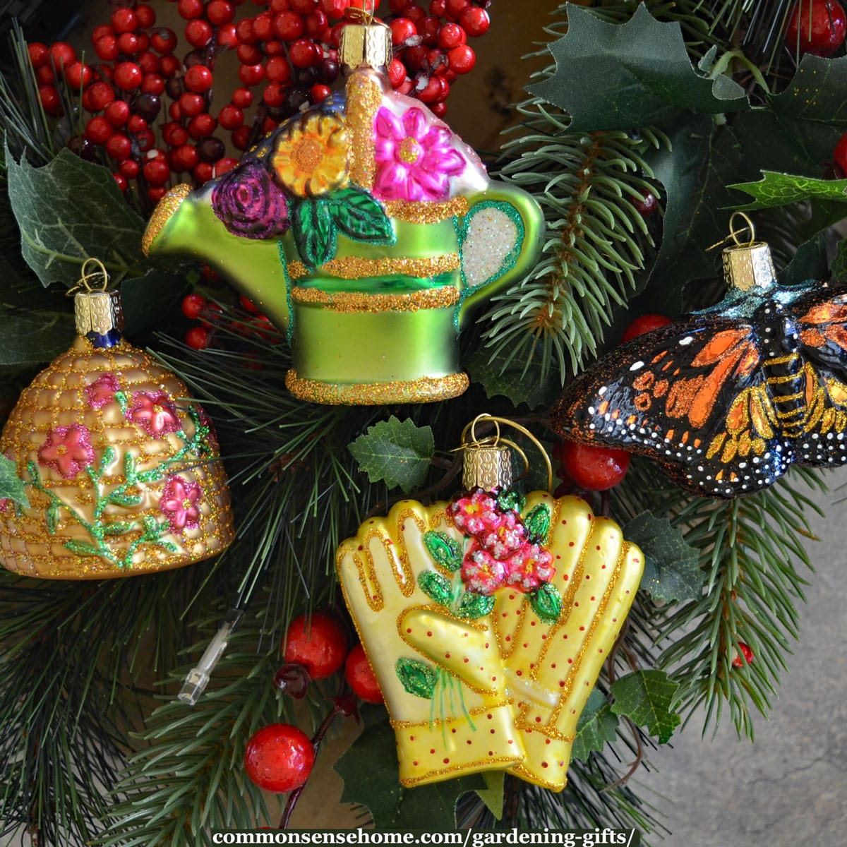 gardening ornaments for Christmas tree