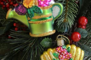 gardening Christmas ornaments