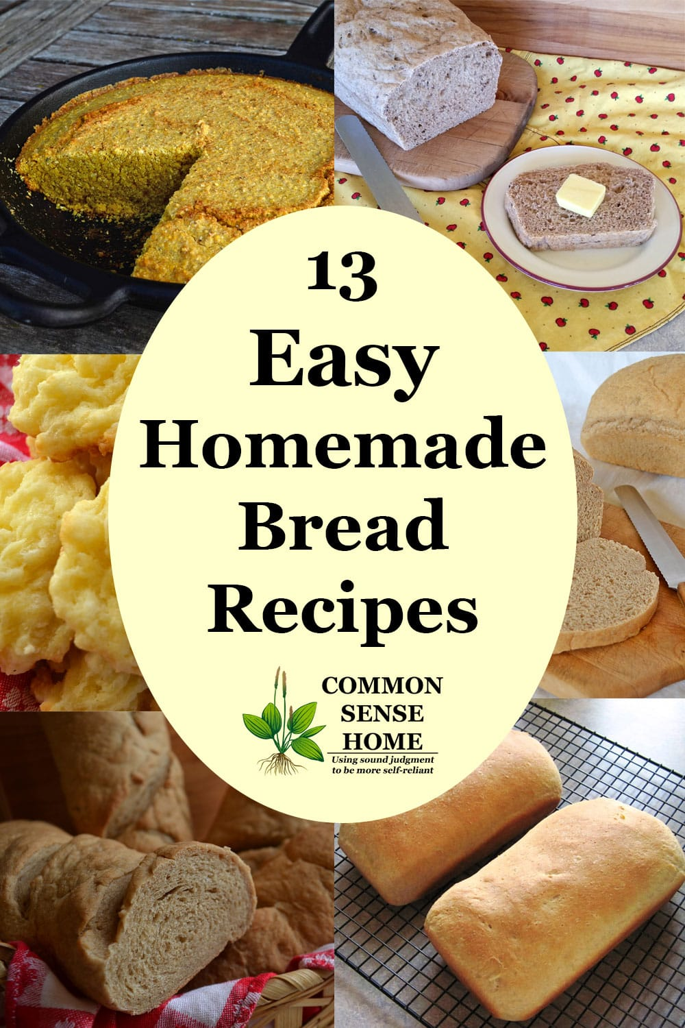 easy homemade bread recipes