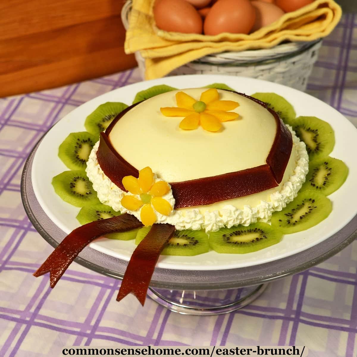 Easter bonnet dessert