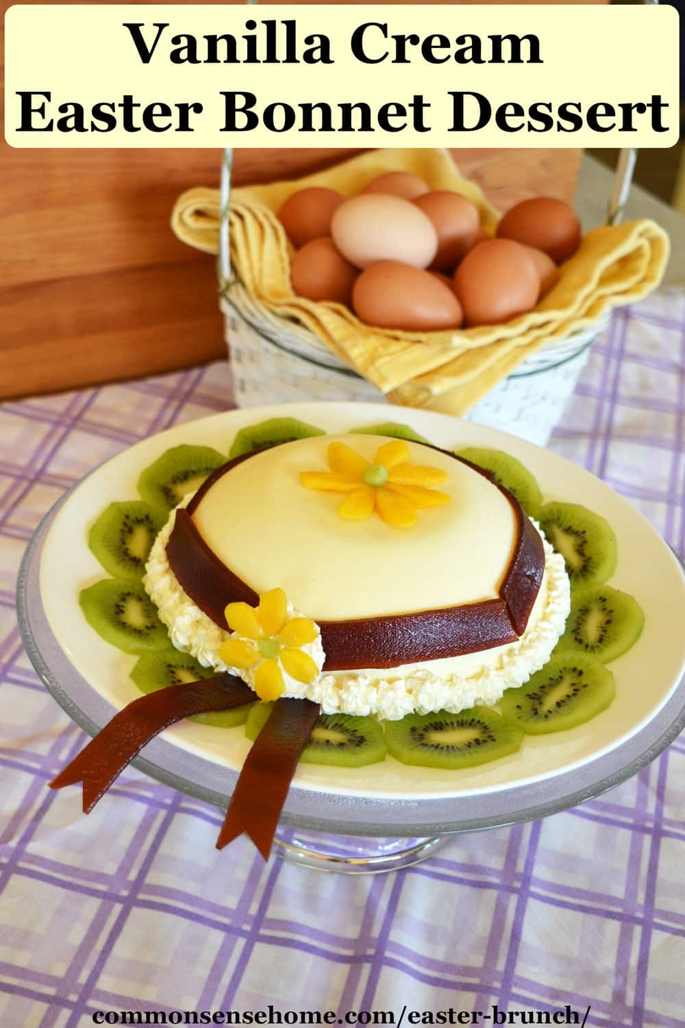 Vanilla Cream Easter Bonnet Dessert