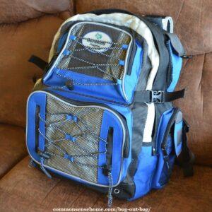 bug out back (BOB) backpack