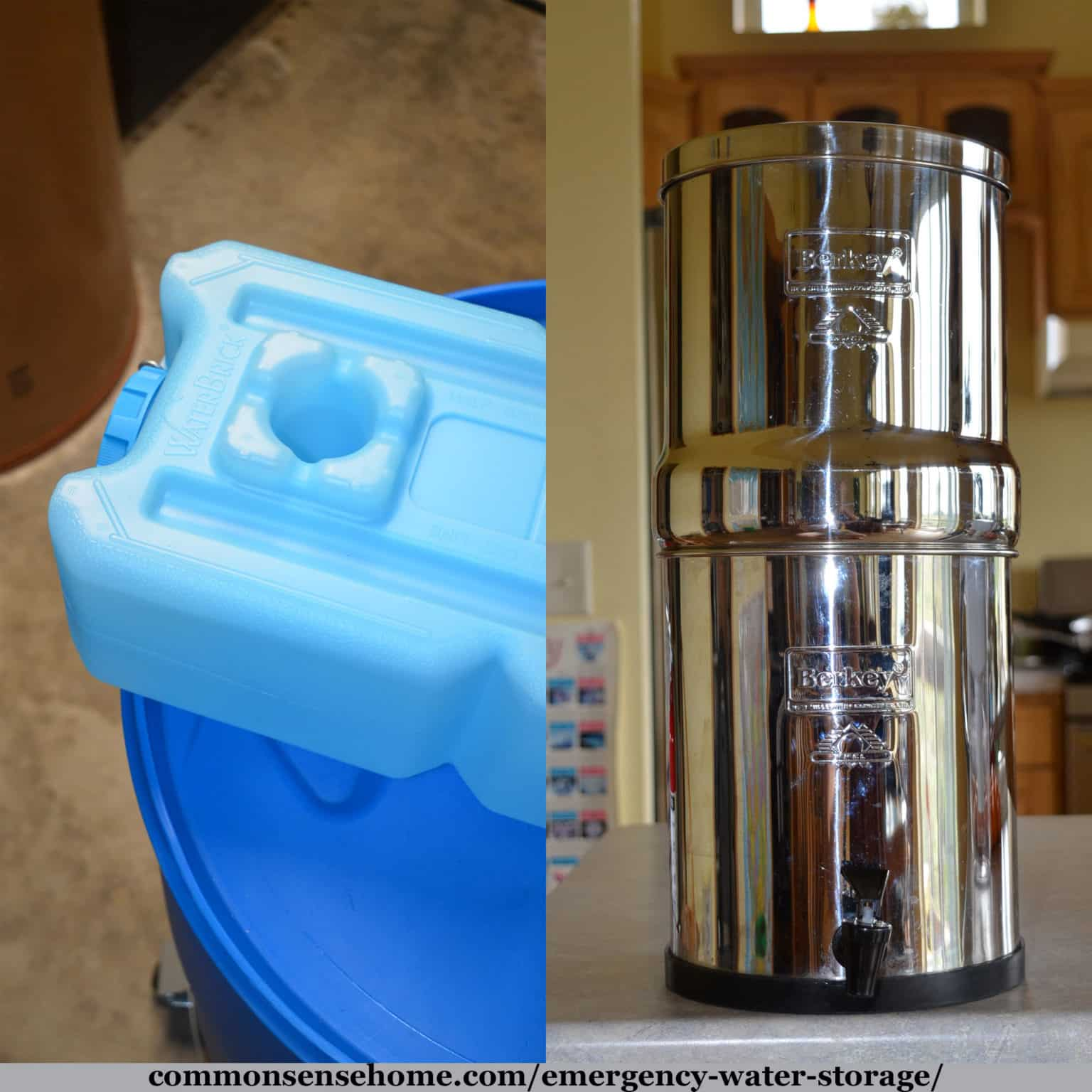 Emergency water storage and filtration