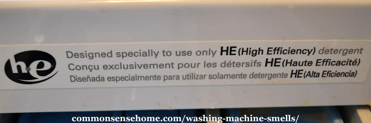 high efficiency clothes washer label
