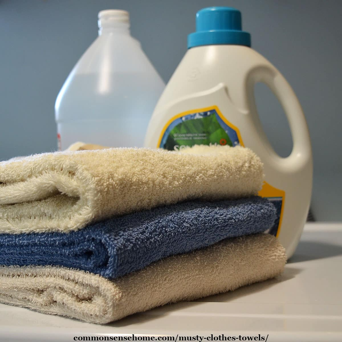 clean towels and laundry products