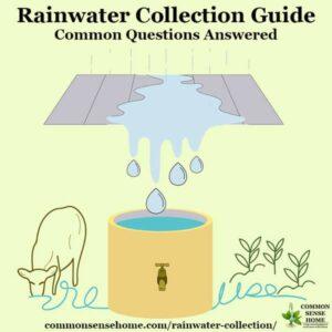 rainwater collection diagram