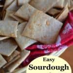 Easy sourdough crackers