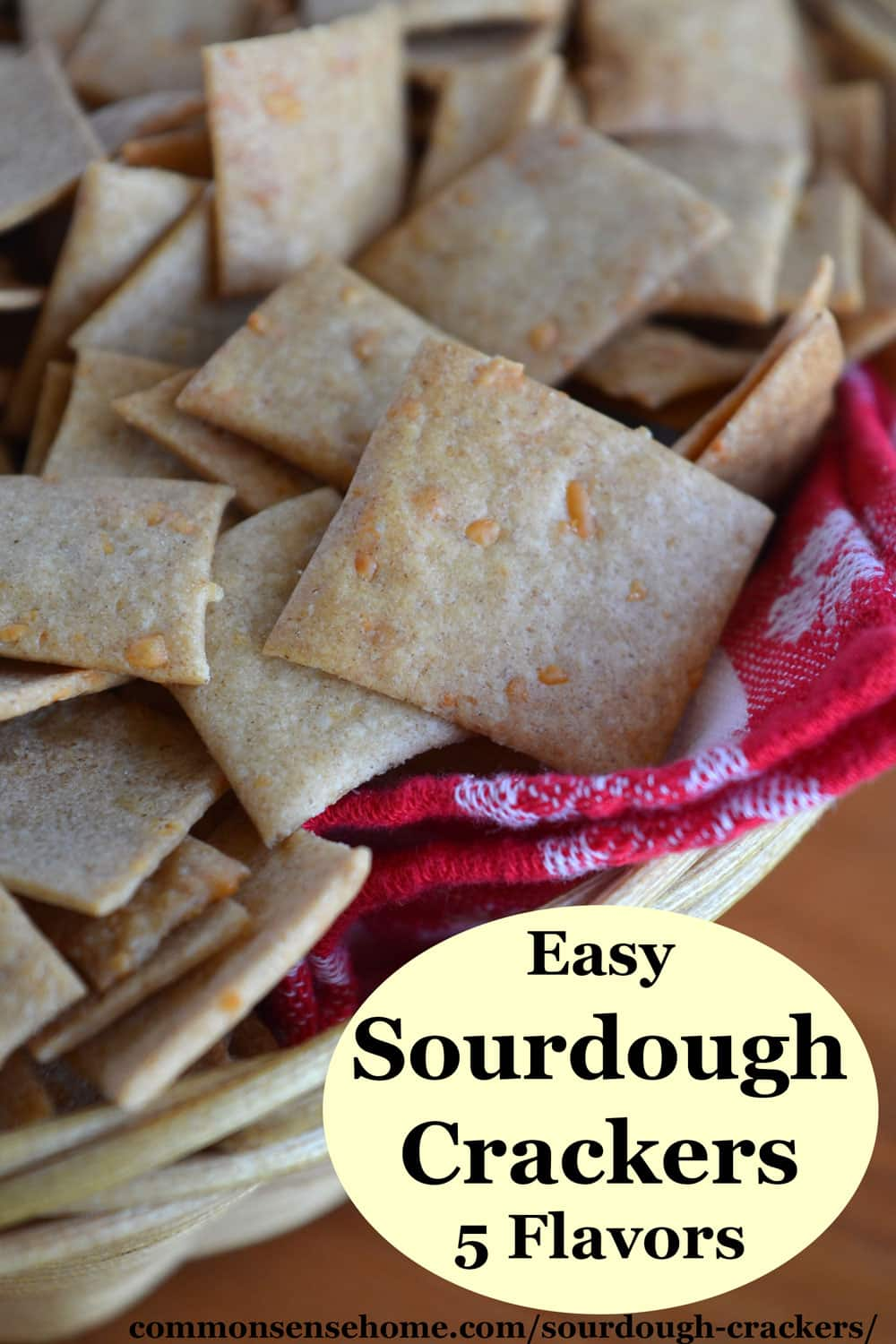 Easy sourdough crackers