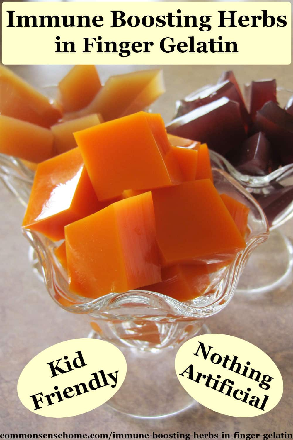 "immune boosting herbs in finger gelatin - ""jello flu shots"""
