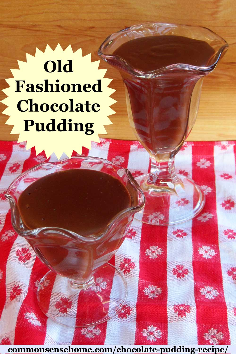 old fashioned chocolate pudding