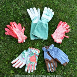 assorted Digz gloves