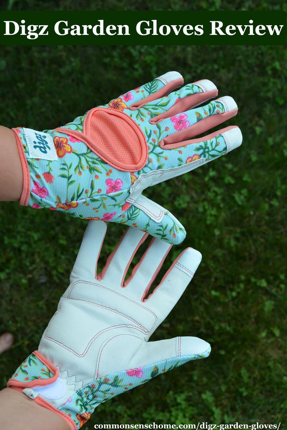 digz garden gloves - signature high performance with mesh back