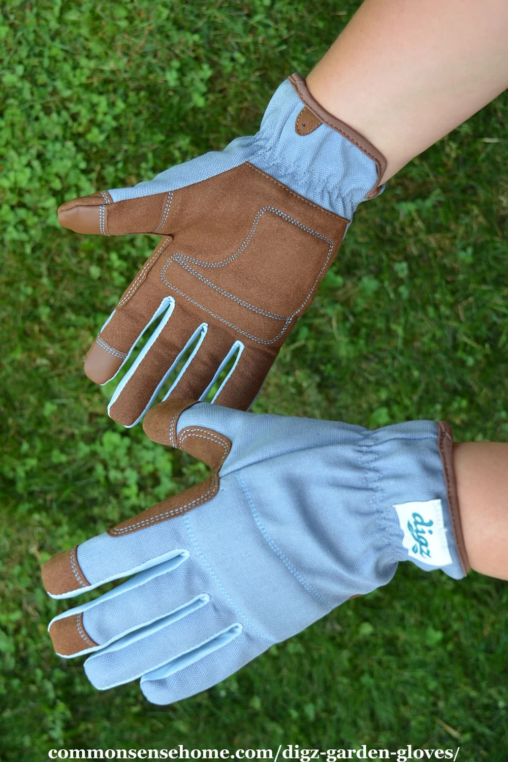 canvas back digz gloves