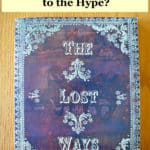 "text ""The Lost Ways Book - Does it Live Up to the Hype?"" with book below"
