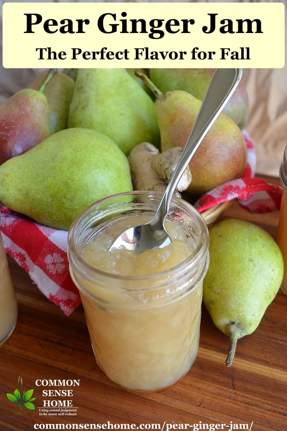 pear ginger jam recipe