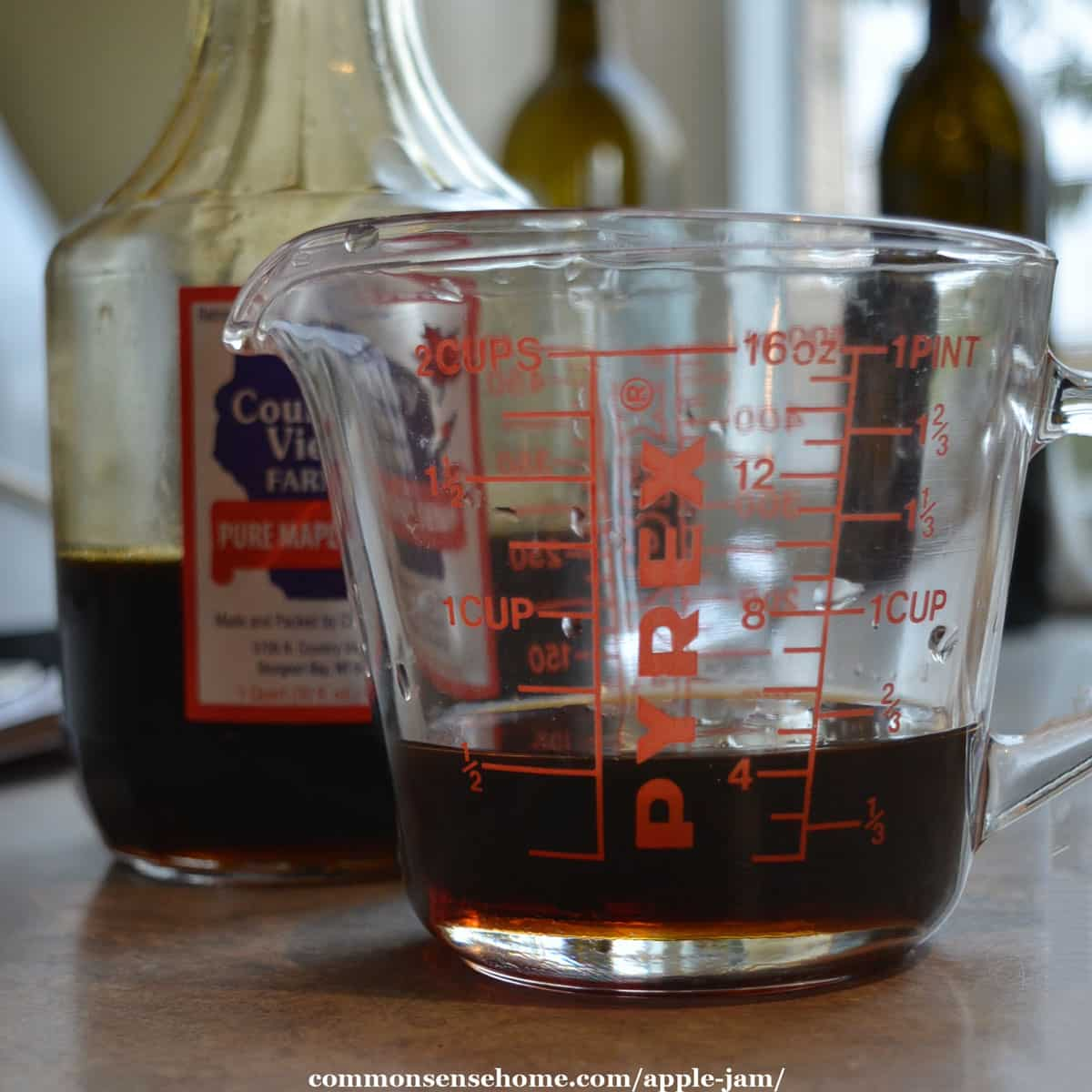 half cup of real maple syrup
