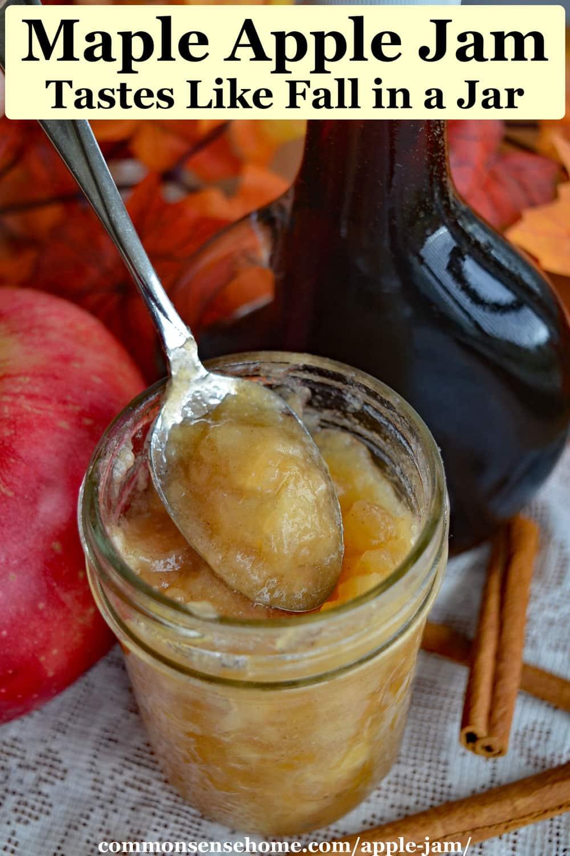 Maple Apple Jam Recipe - Tastes Like Fall in a Jar