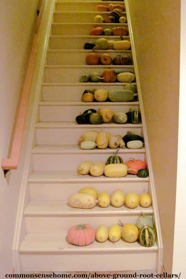 squash storage on stairs