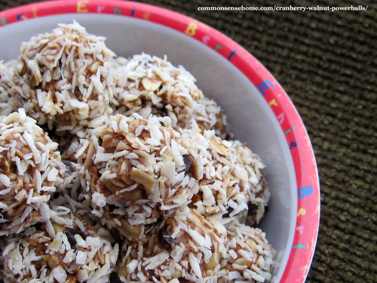 cranberry walnut powerballs