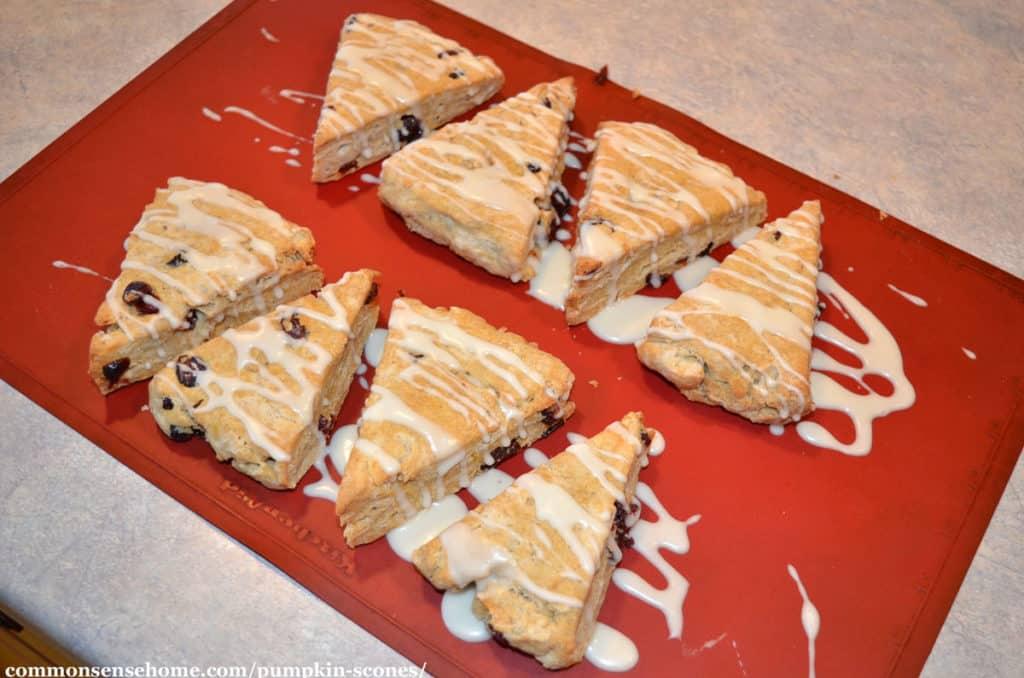 icing the scones