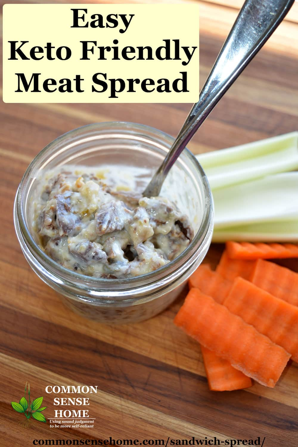 keto friendly meat spread and veggies