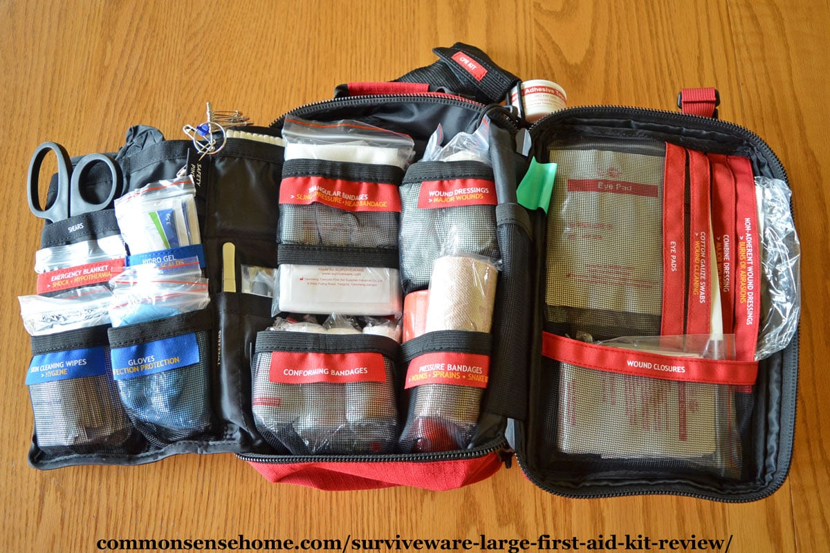 Interior of Surviveware Large First Aid Kit