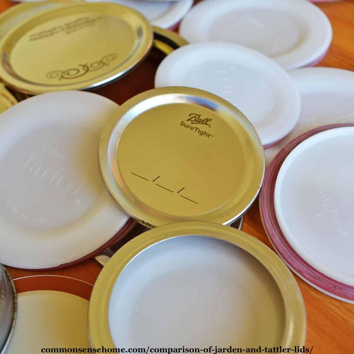 Ball metal canning lids and Tattler lids