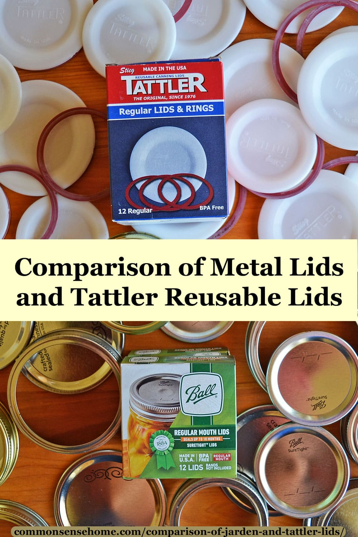 Comparison of Metal Lids and Tattler Lids