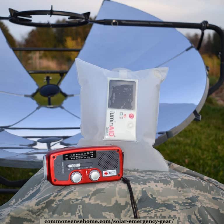 Solar Emergency Gear – Lights, Power, Radios, and Ovens