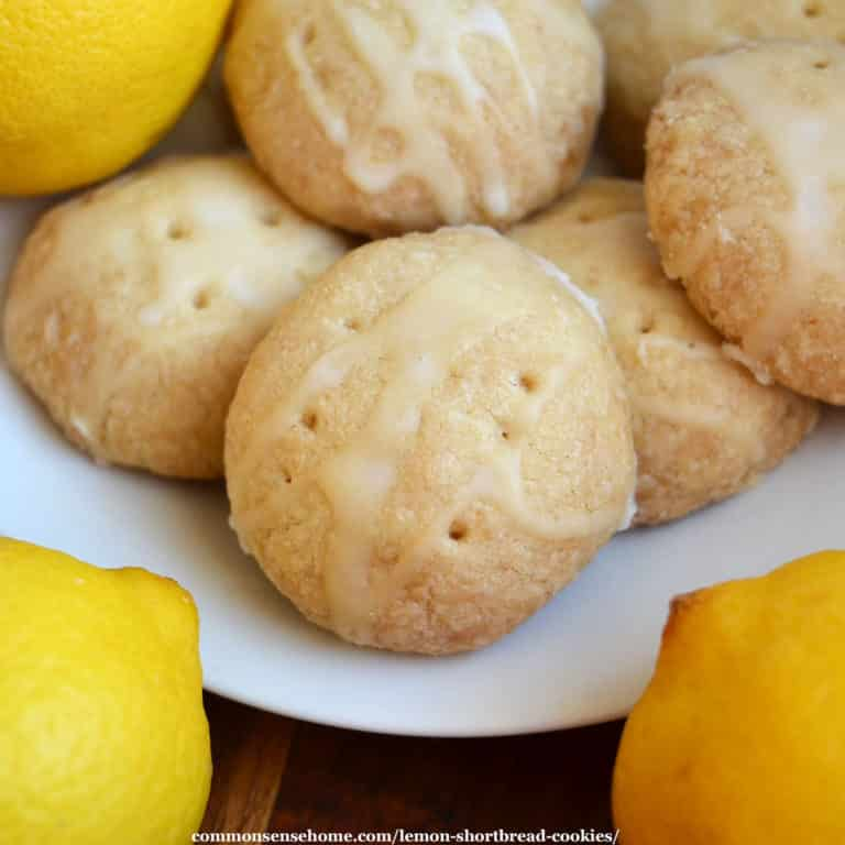 Easy Lemon Shortbread Cookies (No Chilling Required)
