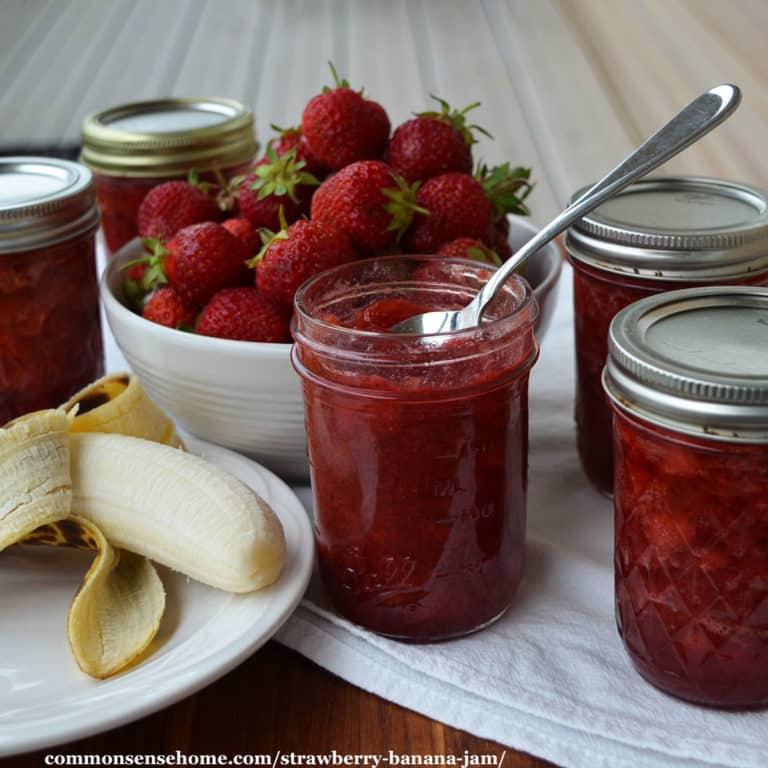 Strawberry Banana Jam – Easy Recipe with Less Sugar
