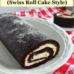 chocolate zucchini cake (Swiss roll cake style)